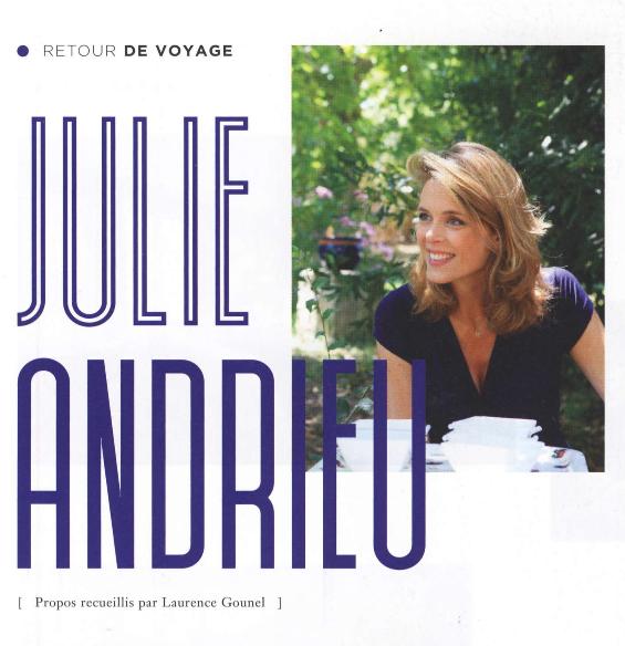 """Julie Andrieu """"Carte Postale """" - Châteaux & Hôtels Collection"""