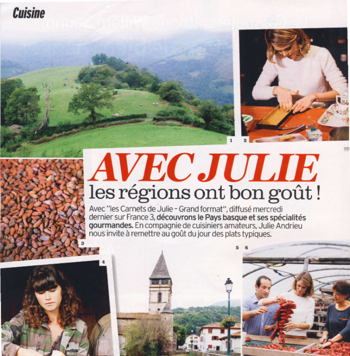 Avec Julie les régions ont bon goût ! - Le Pays Basque - Version Fémina