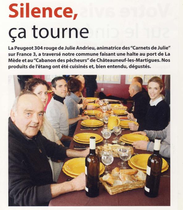 """Julie Andrieu """"Silence ça tourne"""" - Vivre à Châteauneuf-les-Martigues"""