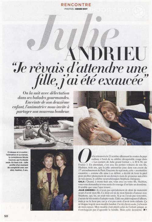 Julie Andrieu : Je rêvais d'attendre une fille, j'ai été exaucée - Gala