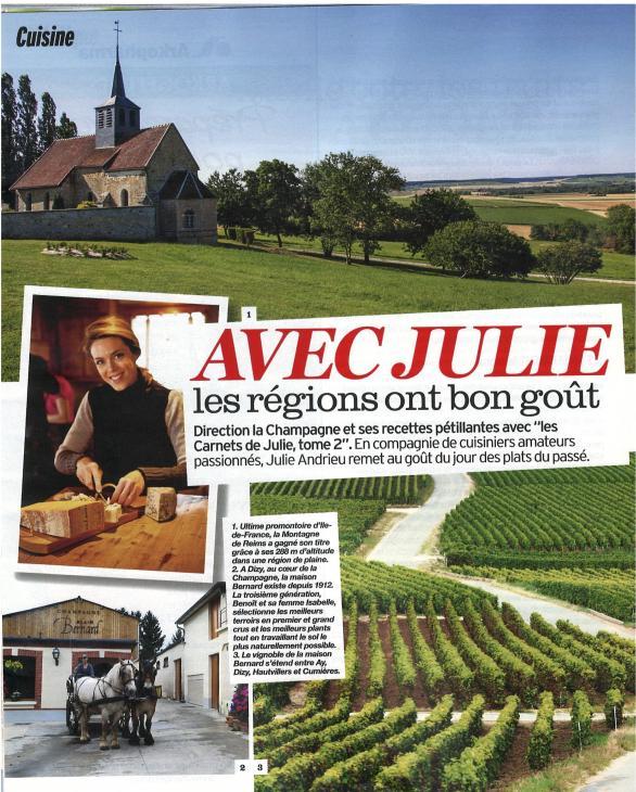 """""""Avec Julie, les régions ont bon goût - En champagne"""" - Version Femina"""