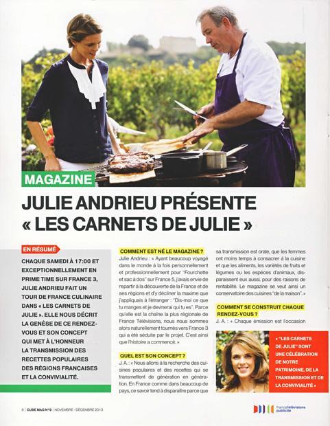 """Julie Andrieu présente """"Les carnets de Julie"""""""