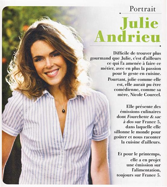 Julie Andrieu, recette de chef
