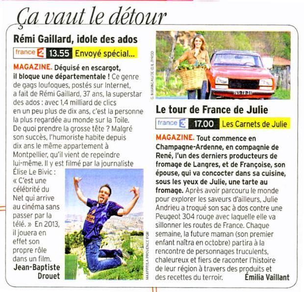 Le tour de France de Julie Andrieu