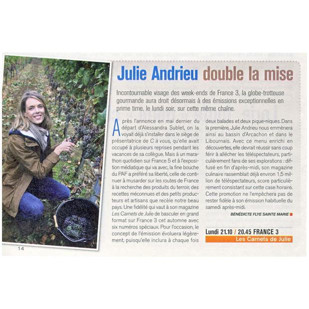 Julie Andrieu double la mise