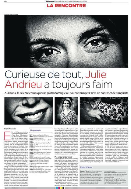 Curieuse de tout, Julie Andrieu a toujours faim