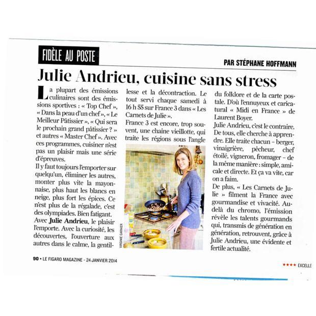 Julie Andrieu cuisine sans stress