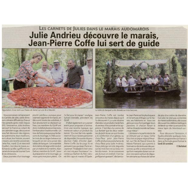 Julie Andrieu découvre le marais