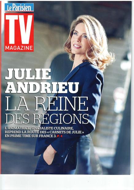 Julie Andrieu, la reine des régions