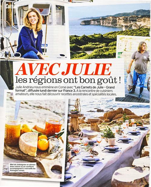 Avec Julie, nos régions ont bon goût – La Corse