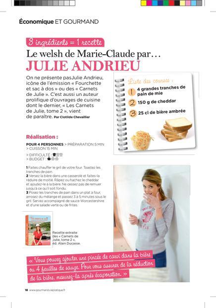 Le welsh de Marie-Claude par Julie Andrieu