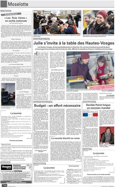 Julie s'invite à la table des Hautes Vosges