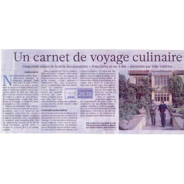 Un carnet de voyage culinaire