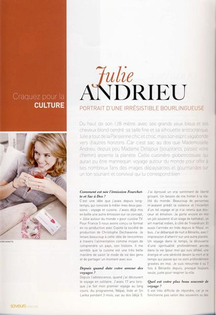 Julie Andrieu, portrait d'une irrésistible bourlingueuse