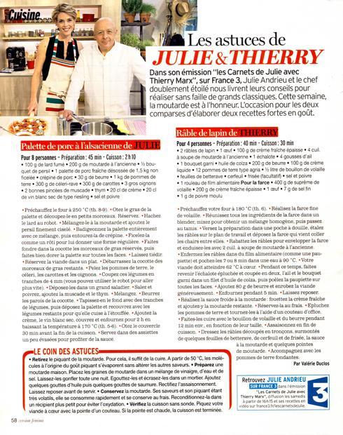 Les astuces de Julie et Thierry
