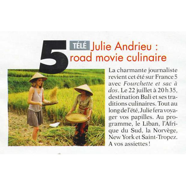 Julie Andrieu : Road movie culinaire