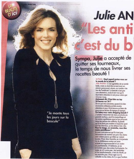 Julie Andrieu, ses recettes beautés