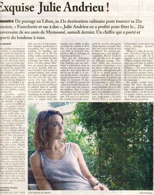 Exquise Julie Andrieu !