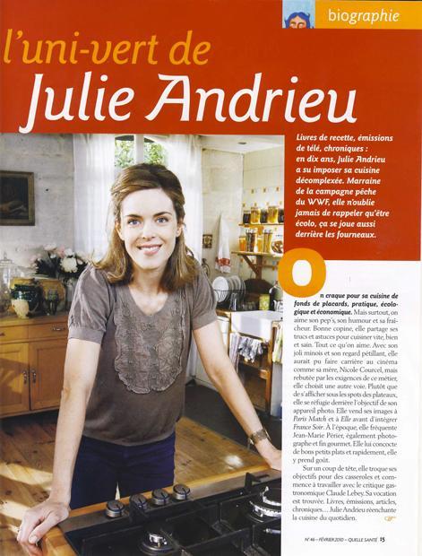 L'uni-vert de Julie Andrieu