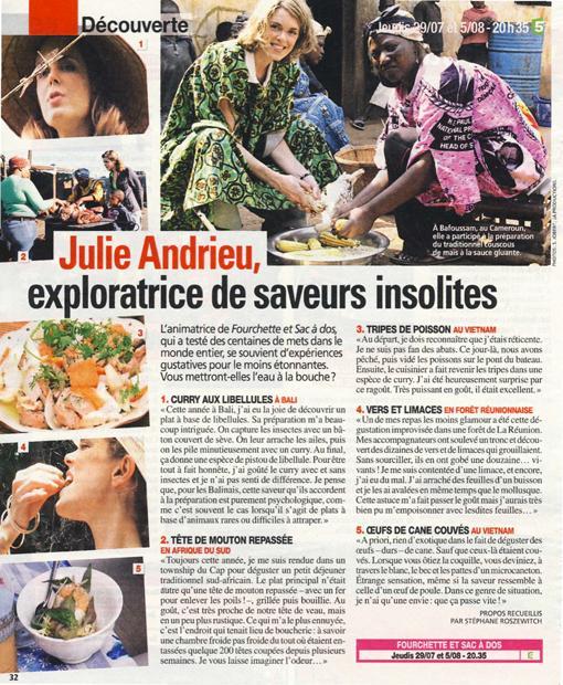 Julie Andrieu, exploratrice de saveurs insolites