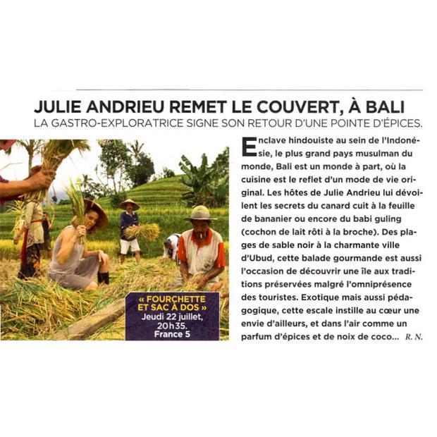 Julie Andrieu remet le couvert, à Bali