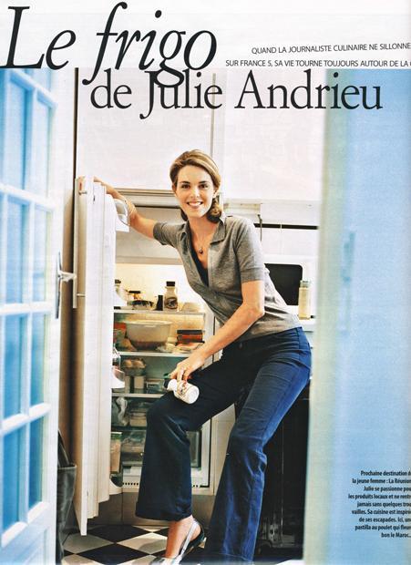 Le frigo de Julie Andrieu