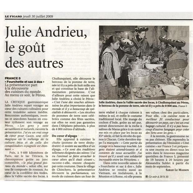 Julie Andrieu, le goût des autres