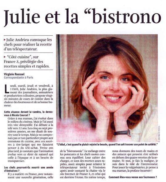 """Julie et la """"bistronomie"""""""
