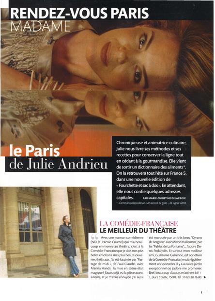 Le Paris de Julie Andrieu