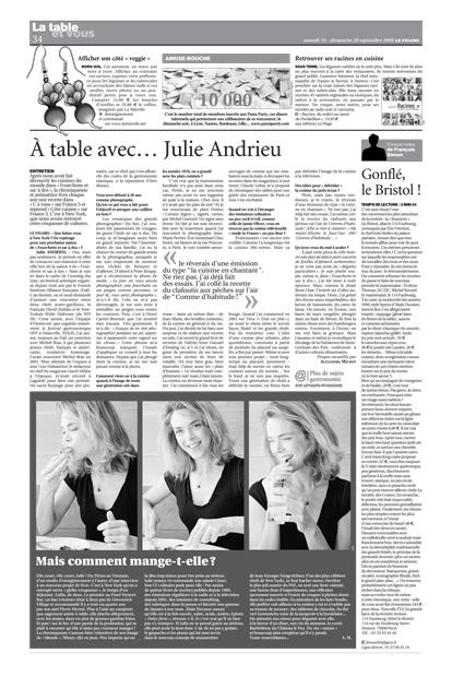A table avec… Julie Andrieu
