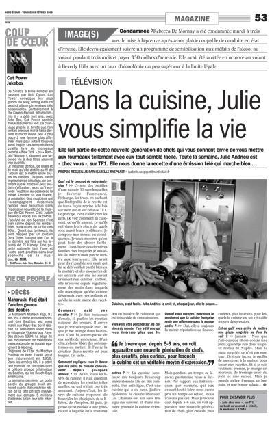 Dans la cuisine, Julie vous simplifie la vie