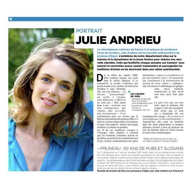 Portrait Julie Andrieu