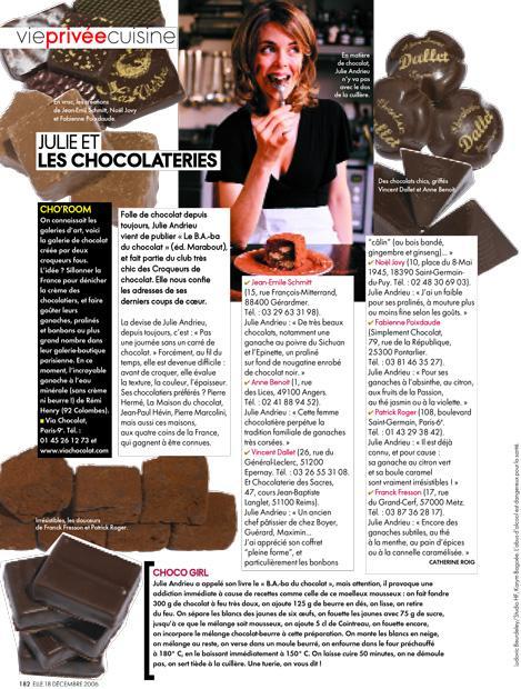 Julie et les chocolateries