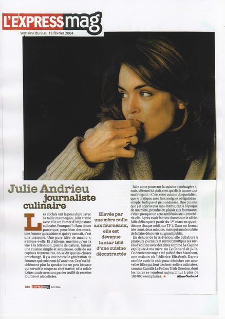 Julie Andrieu journaliste culinaire