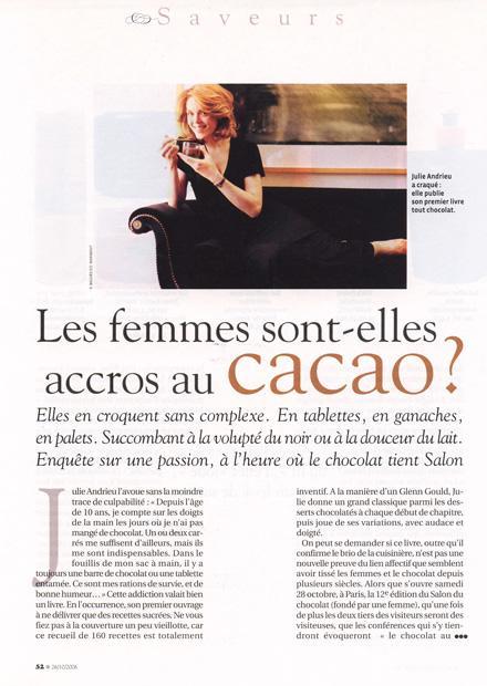 Les femmes sont-elles accro au cacao ?