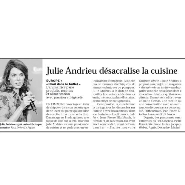 Julie Andrieu désacralise la cuisine