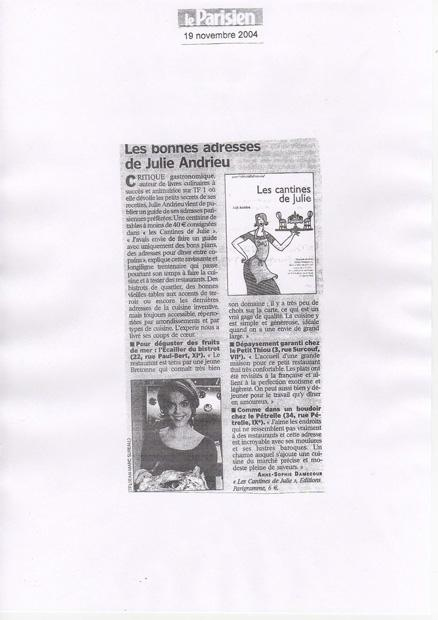 Les bonnes adresses de Julie Andrieu