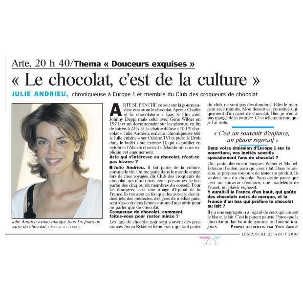 """""""Le chocolat, c'est de la culture"""""""