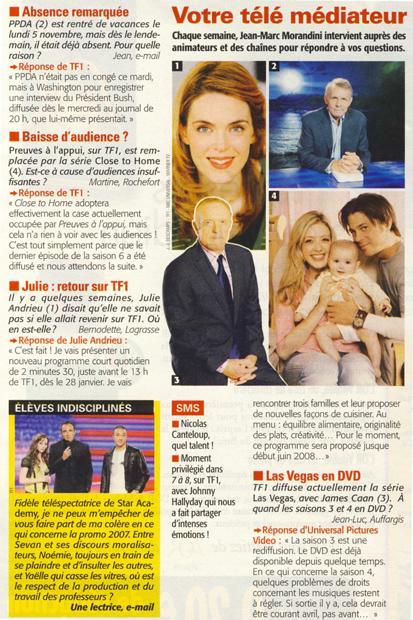 Julie: retour sur TF1