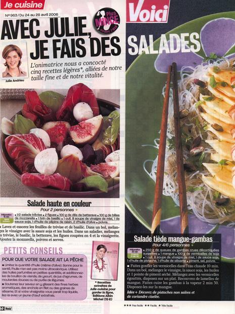 Avec Julie, je fais des salades
