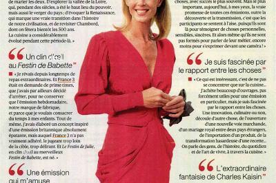 TV MAGAZINE - Julie Andrieu - 7 décembre 2018