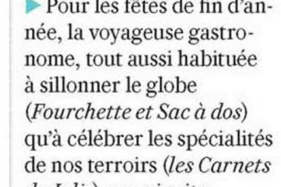 """VALEURS ACTUELLE - """"Le Festin de Julie à Chambord"""" - 6 décembre 2018"""