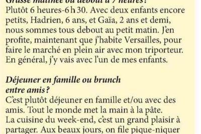 """VERSION FEMINA - """"Un dimanche avec Julie Andrieu"""" - 2 décembre 2018"""