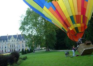 diner tête à tête en montgolfière