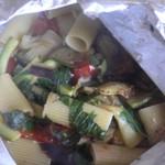 Rigatoni et légumes en papillotes