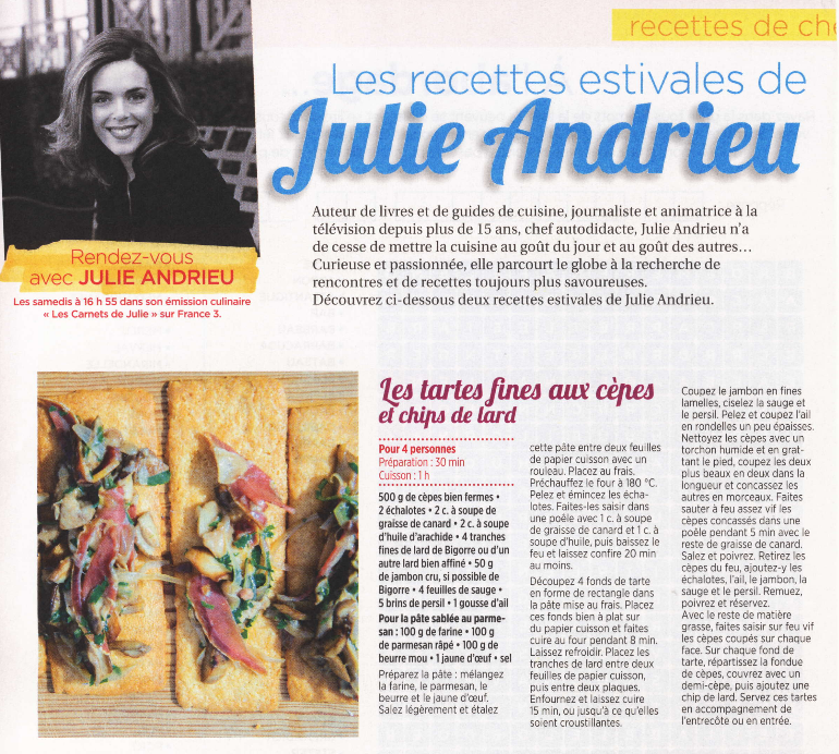 Les recettes estivales de Julie Andrieu – Cuisine & Jeux