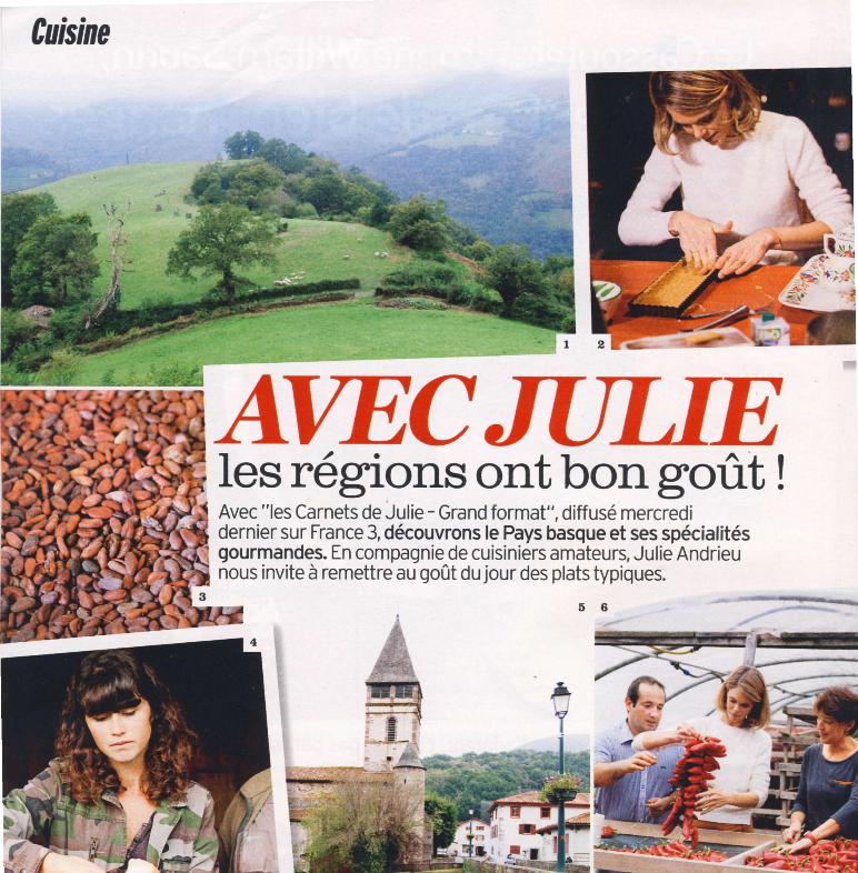 Avec Julie les régions ont bon goût ! – Le Pays Basque – Version Fémina