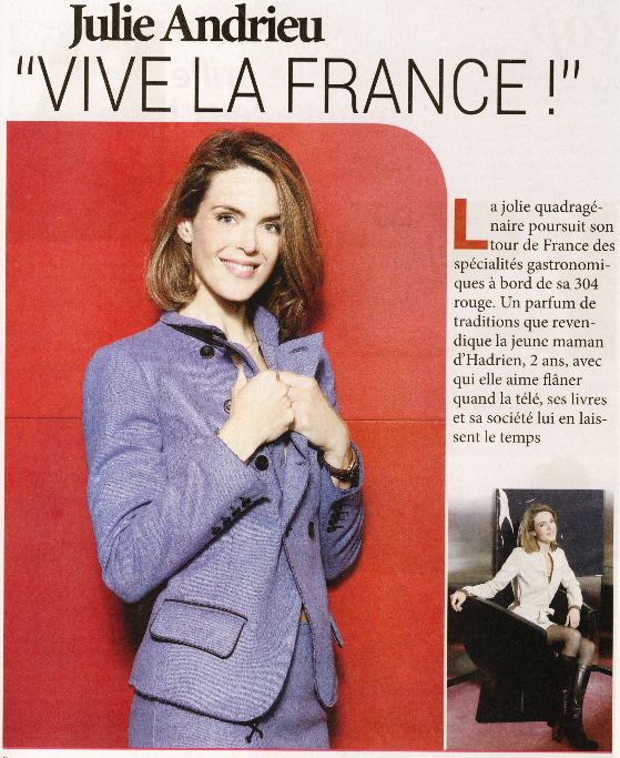 Julie Andrieu «Vive la France» – Intimité