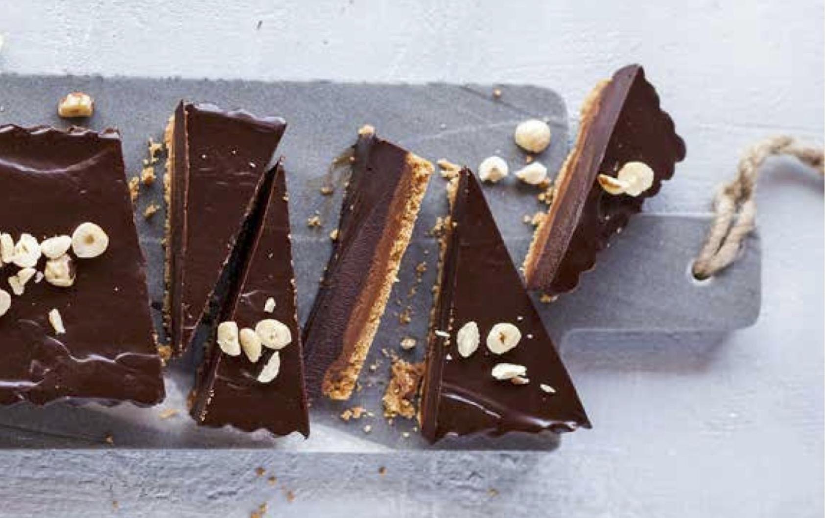 tarte sablée  chocolat pralinée