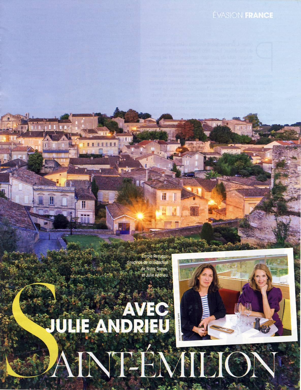 Du côté de Saint-Emilion avec Julie Andrieu – Notre Temps